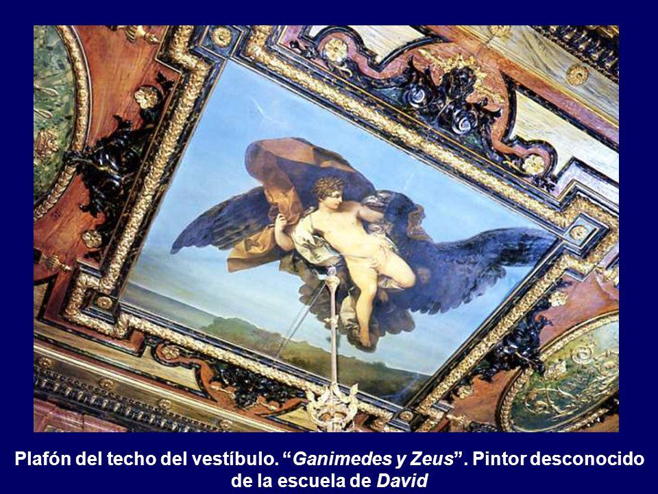 Plafón del techo del vestíbulo. Ganimedes y Zeus
