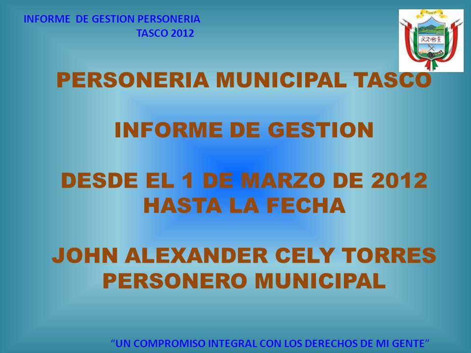 PERSONERIA MUNICIPAL TASCO INFORME DE GESTION