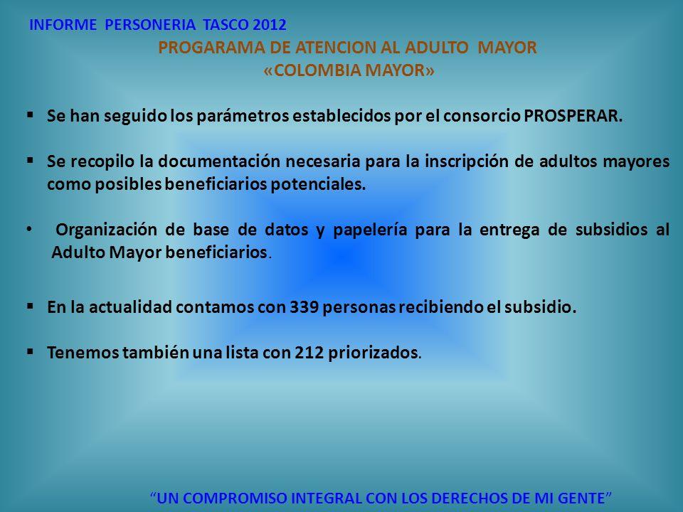 PROGARAMA DE ATENCION AL ADULTO MAYOR