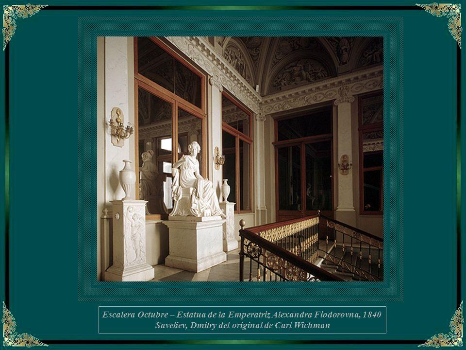 Escalera Octubre – Estatua de la Emperatriz Alexandra Fiodorovna, 1840