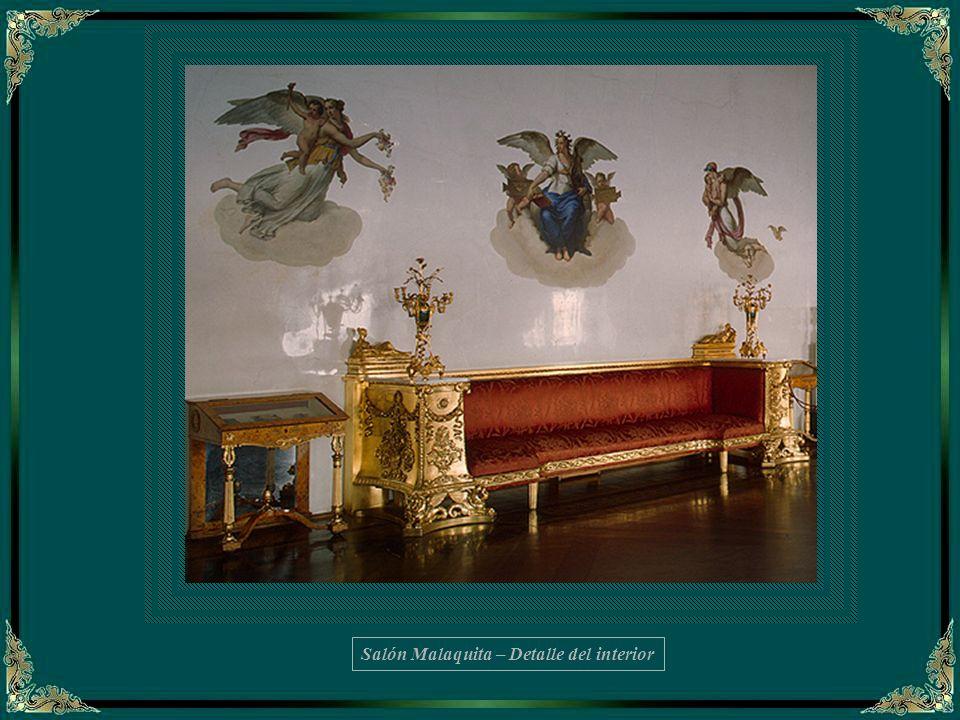 Salón Malaquita – Detalle del interior