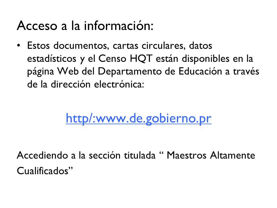 Acceso a la información: