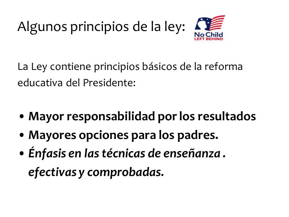 Algunos principios de la ley: