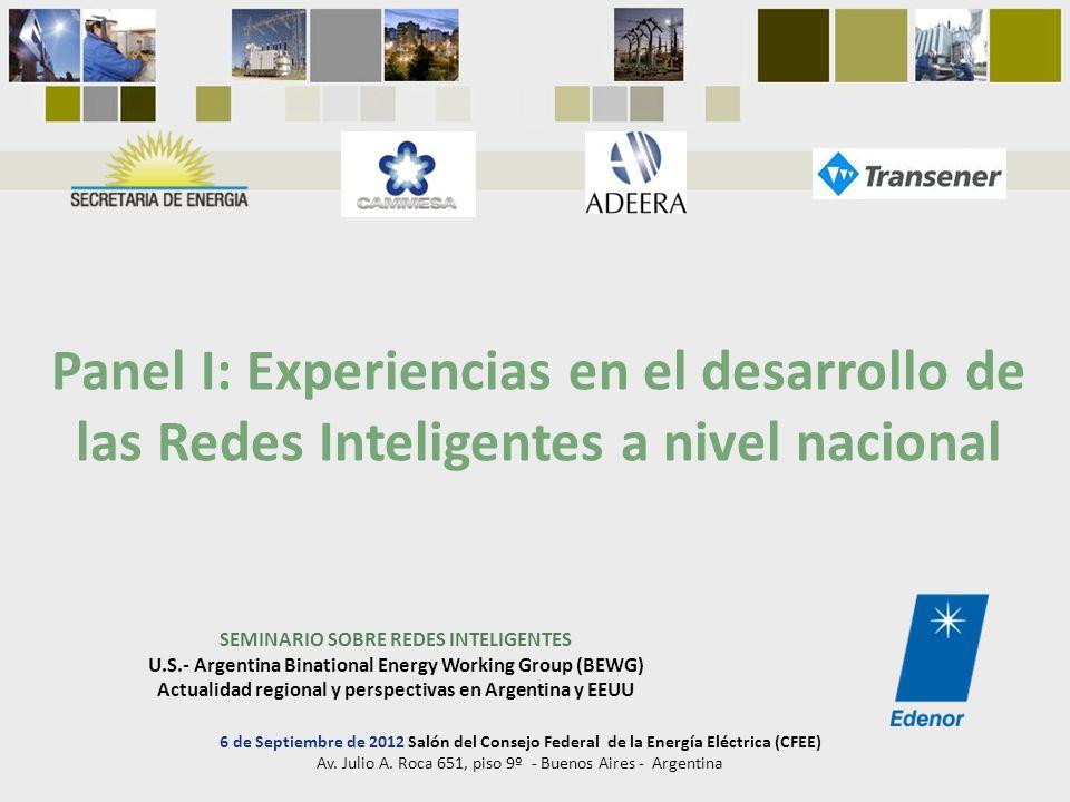 Panel I: Experiencias en el desarrollo de las Redes Inteligentes a nivel nacional