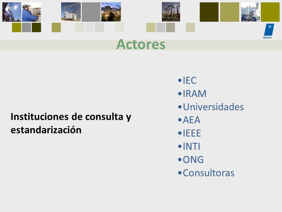 Actores IEC IRAM Universidades AEA IEEE INTI