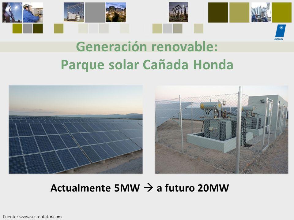 Generación renovable: Parque solar Cañada Honda