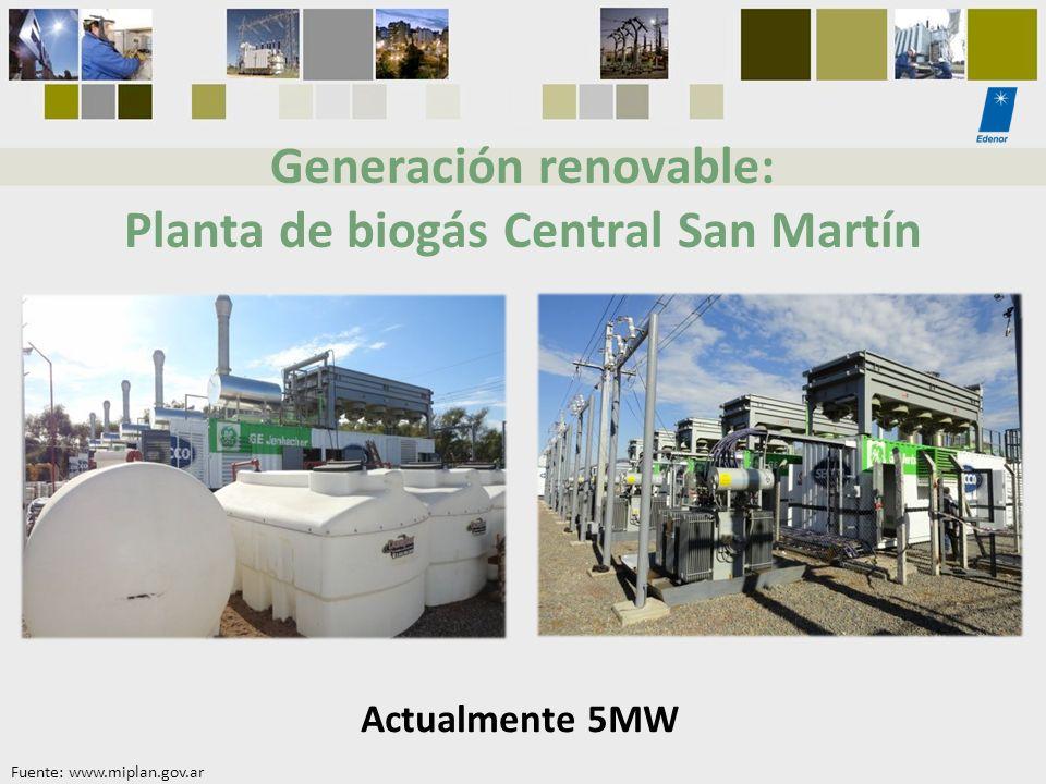 Generación renovable: Planta de biogás Central San Martín