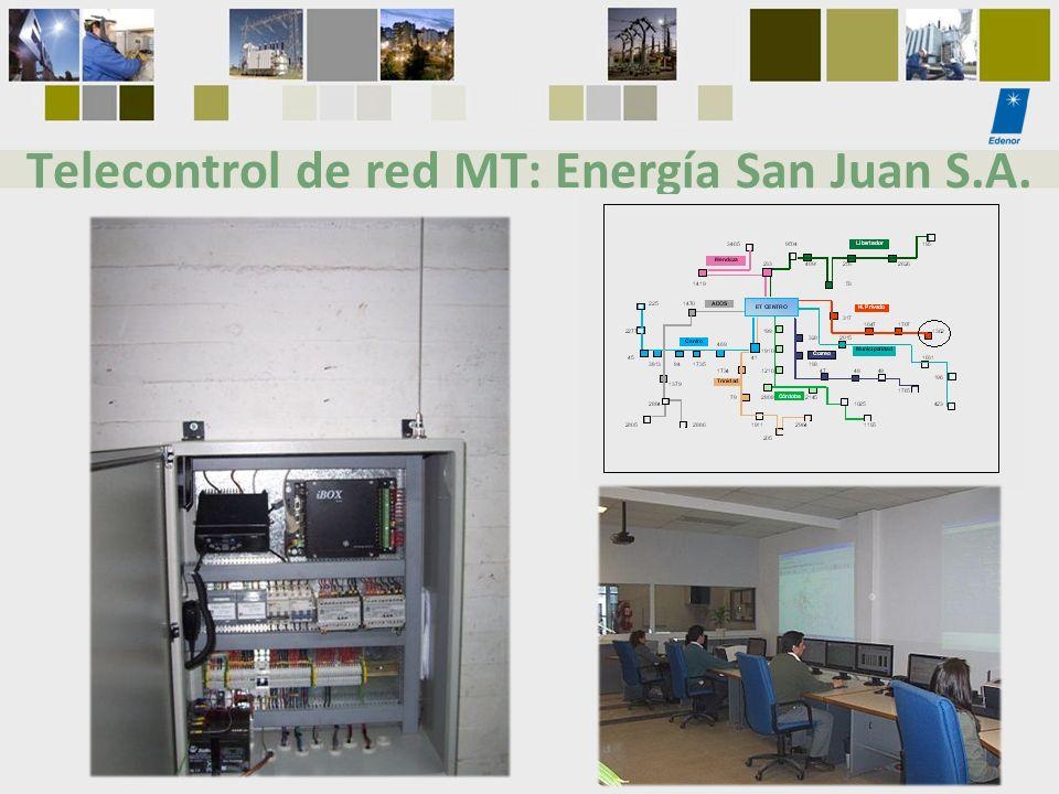 Telecontrol de red MT: Energía San Juan S.A.