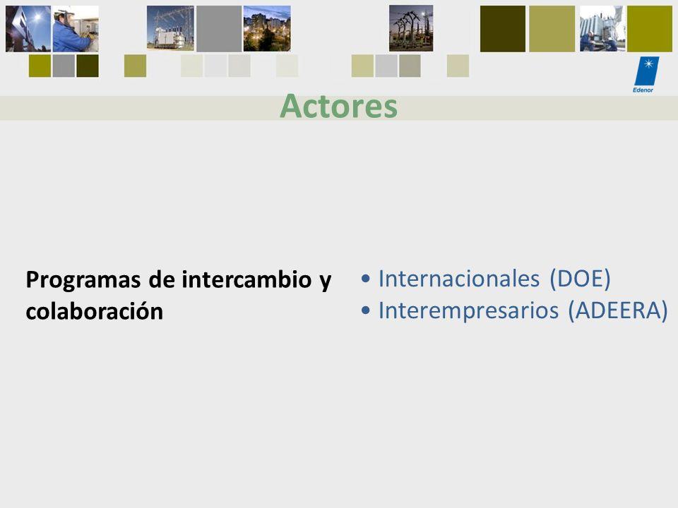 Actores Programas de intercambio y colaboración Internacionales (DOE)