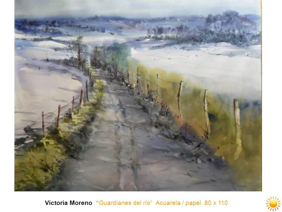 Victoria Moreno Guardianes del río Acuarela / papel 80 x 110