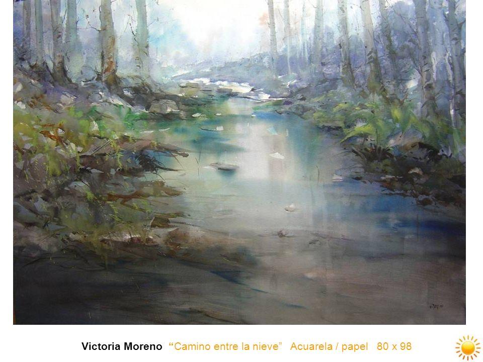 Victoria Moreno Camino entre la nieve Acuarela / papel 80 x 98
