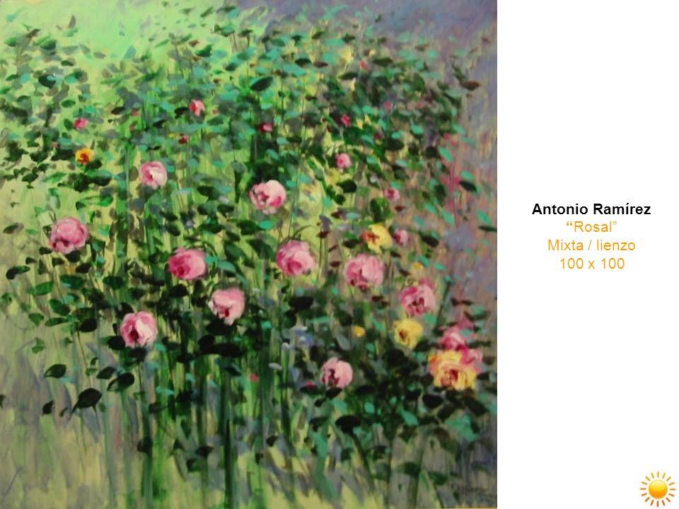 Antonio Ramírez Rosal Mixta / lienzo 100 x 100