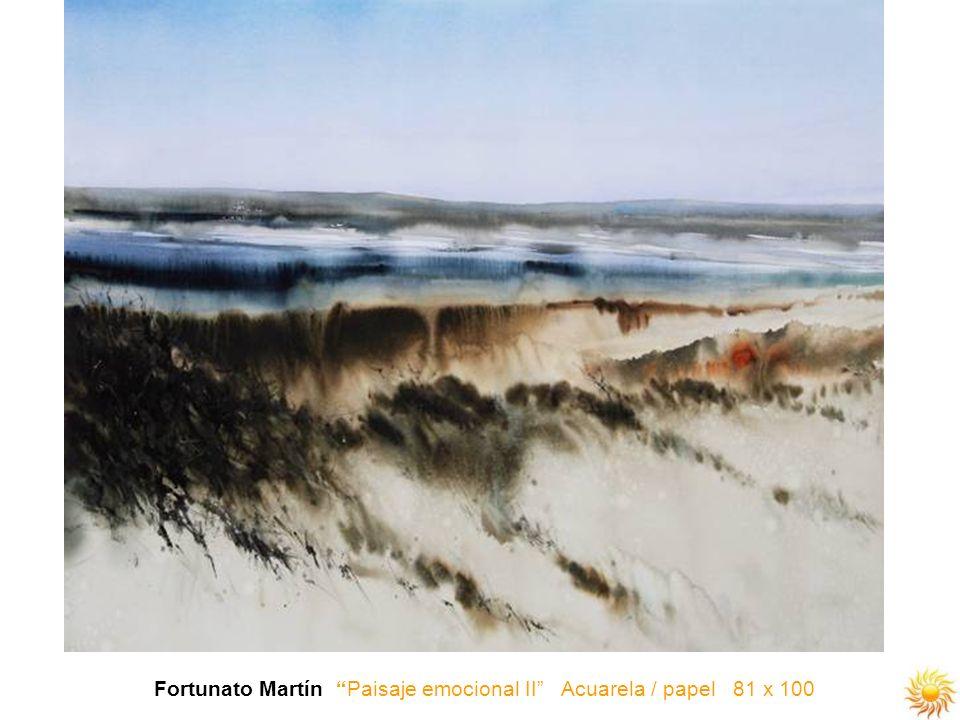 Fortunato Martín Paisaje emocional II Acuarela / papel 81 x 100