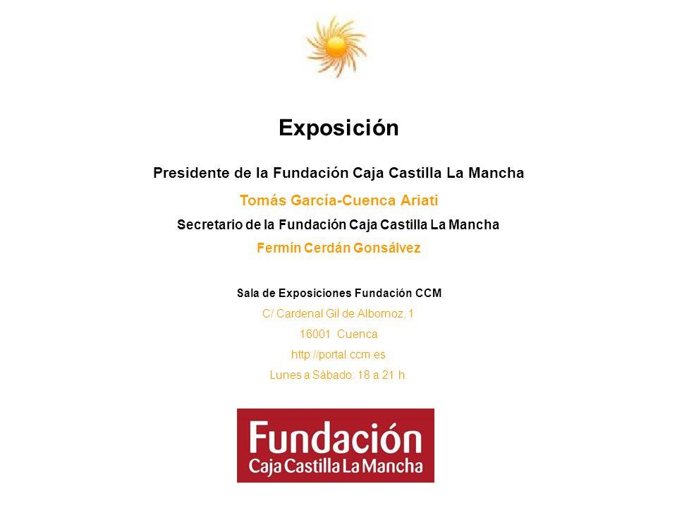 Exposición Presidente de la Fundación Caja Castilla La Mancha