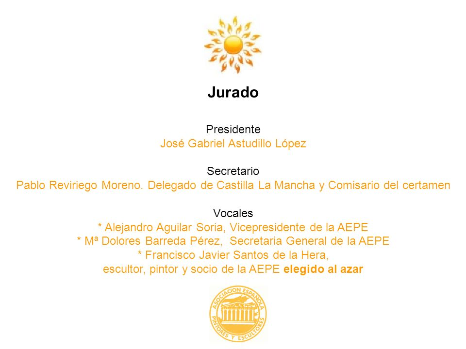 Jurado Presidente José Gabriel Astudillo López Secretario