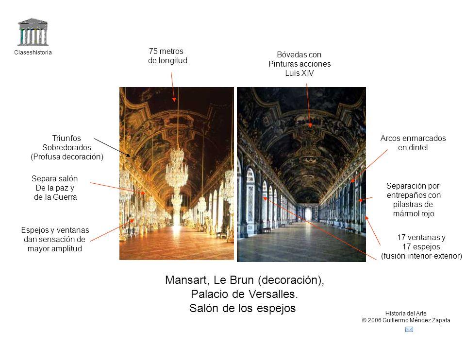 Mansart, Le Brun (decoración), Palacio de Versalles.