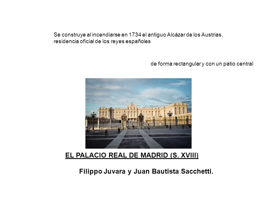 EL PALACIO REAL DE MADRID (S. XVIII)