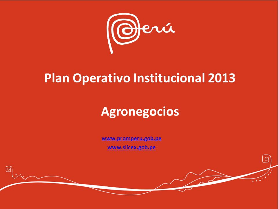 Plan Operativo Institucional 2013 Agronegocios