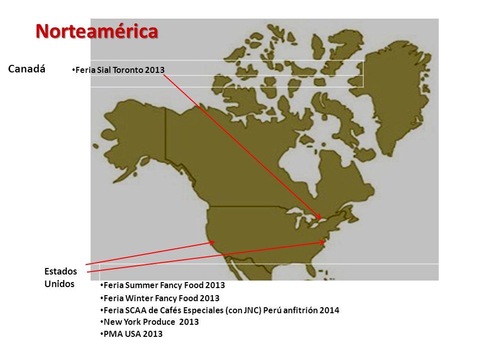 Norteamérica Canadá Estados Unidos Feria Sial Toronto 2013