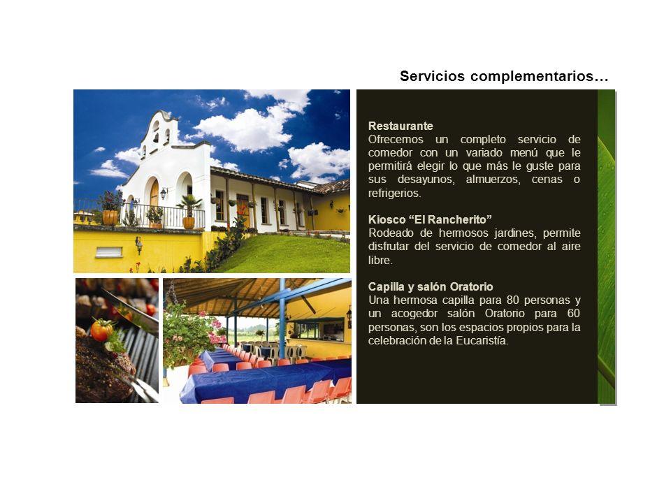 Servicios complementarios…