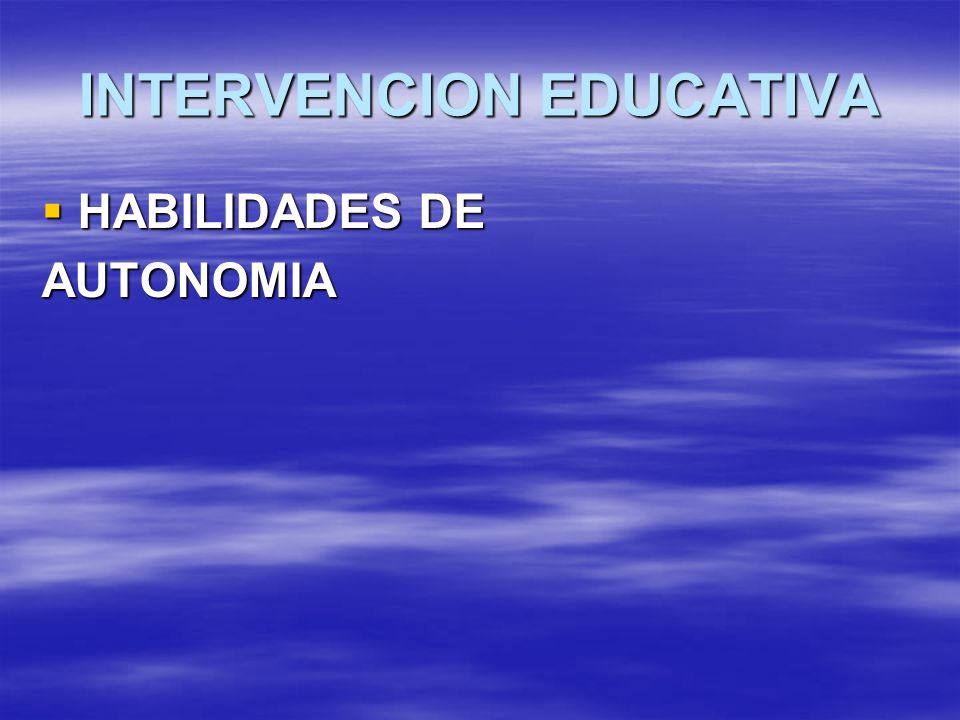 INTERVENCION EDUCATIVA