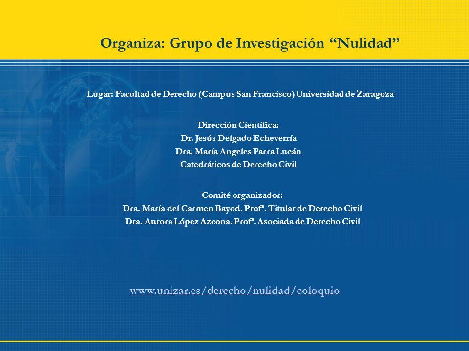 Organiza: Grupo de Investigación Nulidad