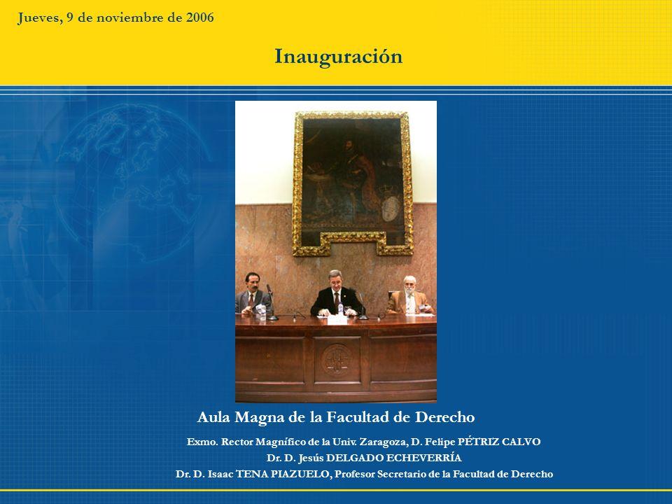 Inauguración Aula Magna de la Facultad de Derecho
