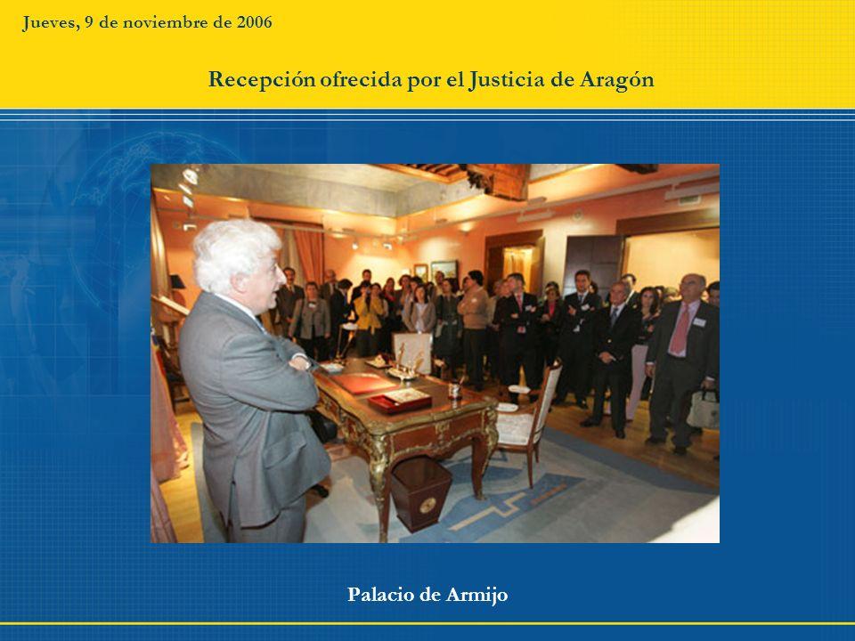 Recepción ofrecida por el Justicia de Aragón