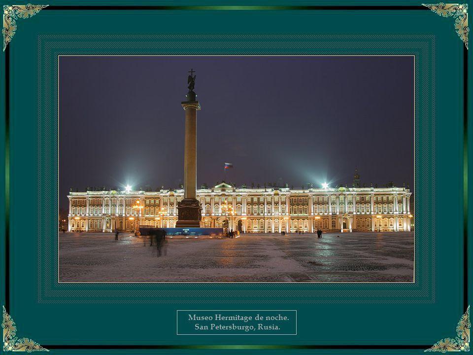 Museo Hermitage de noche.