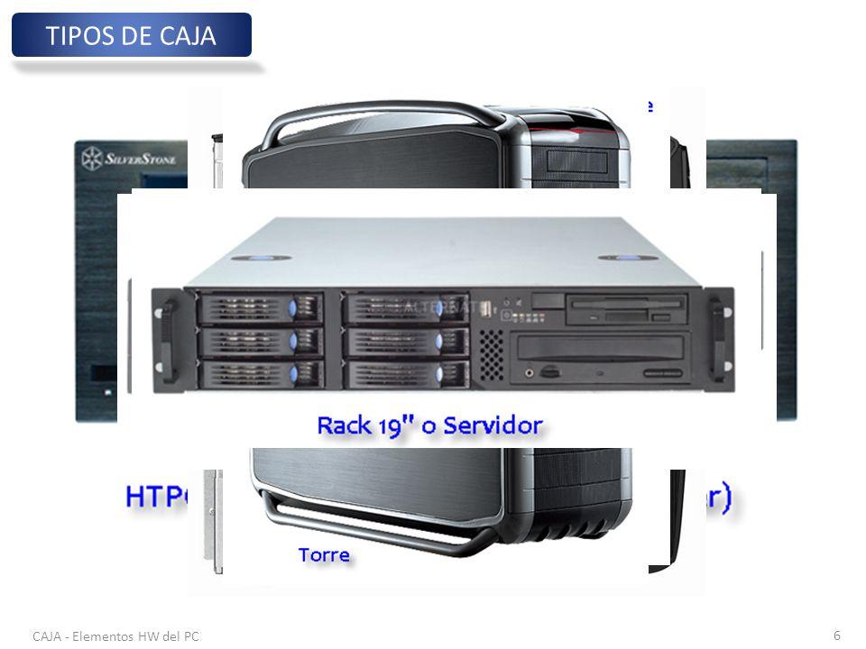 TIPOS DE CAJA CAJA - Elementos HW del PC