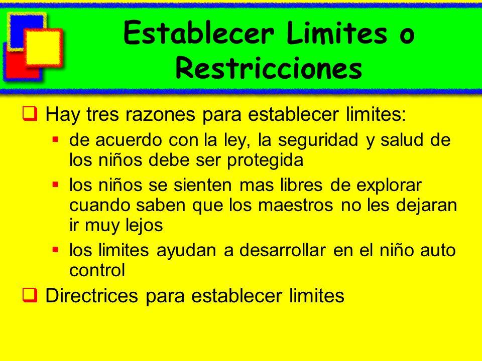 Establecer Limites o Restricciones