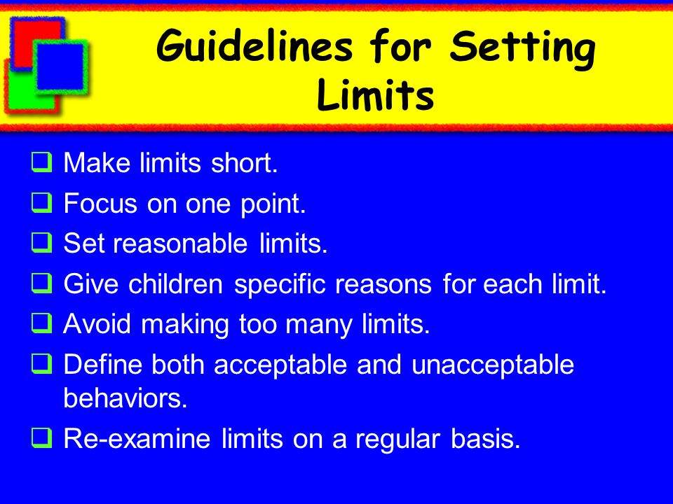 Guidelines for Setting Limits