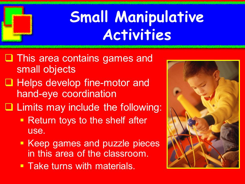 Small Manipulative Activities