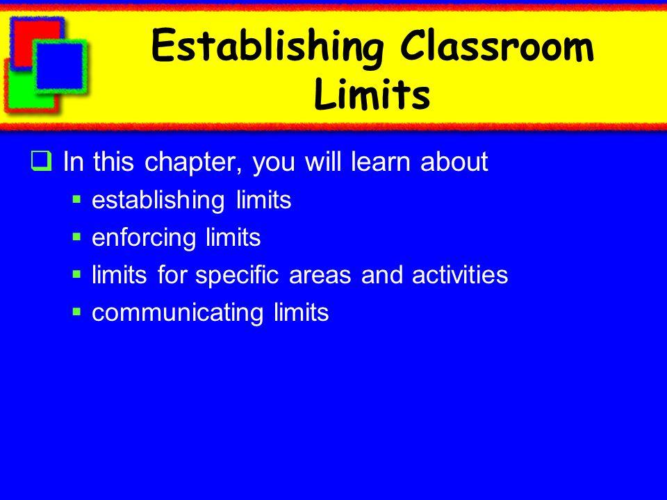 Establishing Classroom Limits