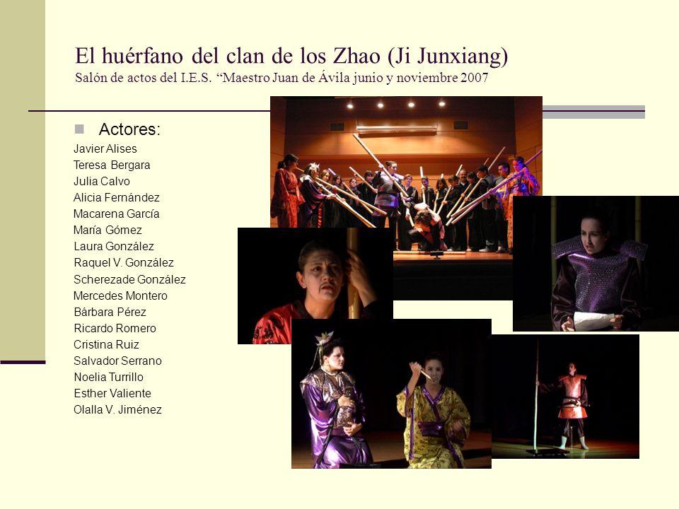 El huérfano del clan de los Zhao (Ji Junxiang) Salón de actos del I. E