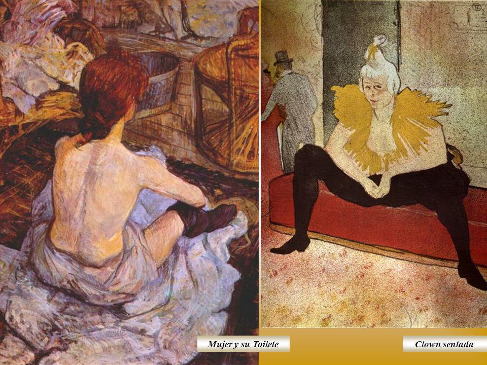 Mujer y su Toilete Clown sentada