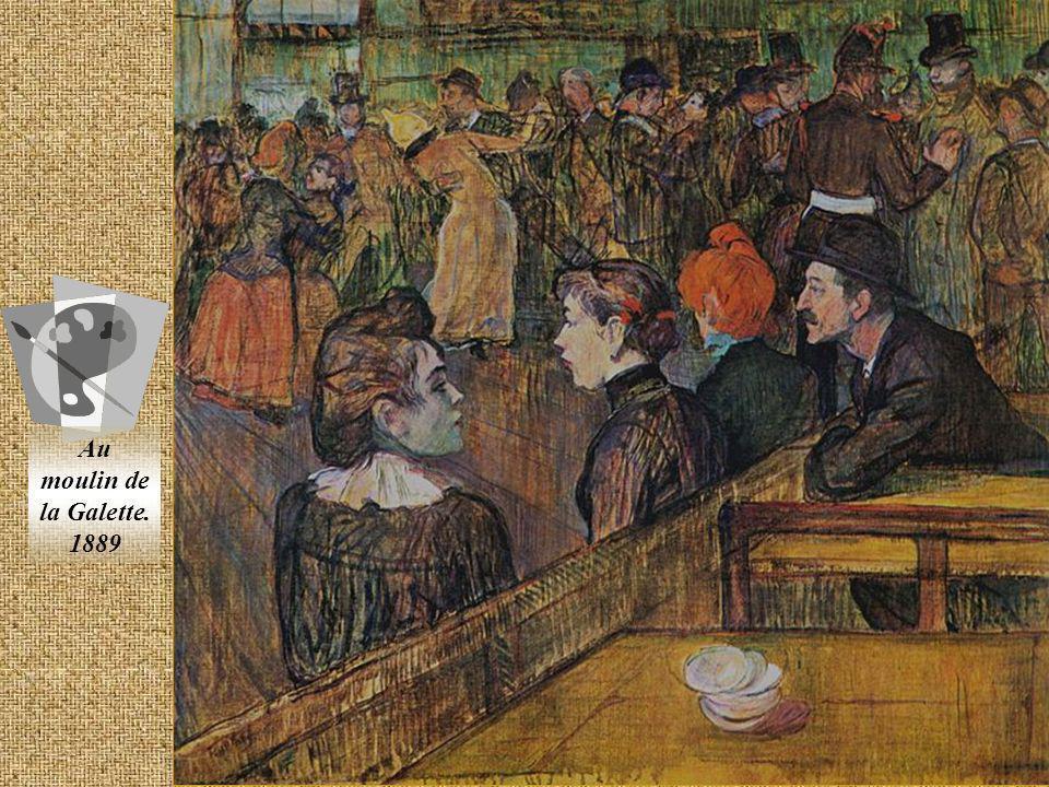Au moulin de la Galette. 1889