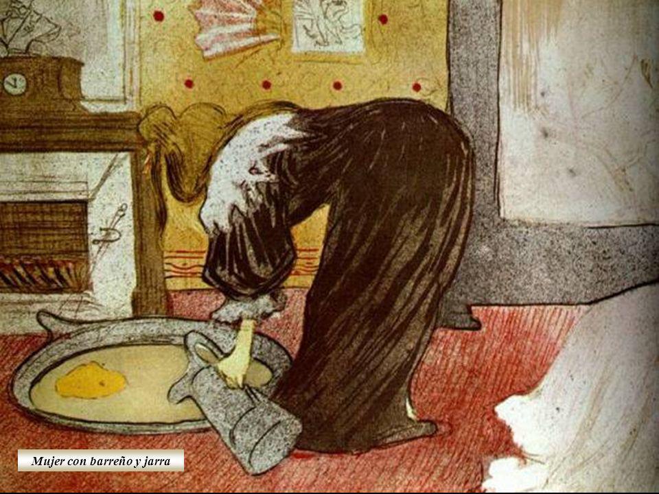 Mujer con barreño y jarra