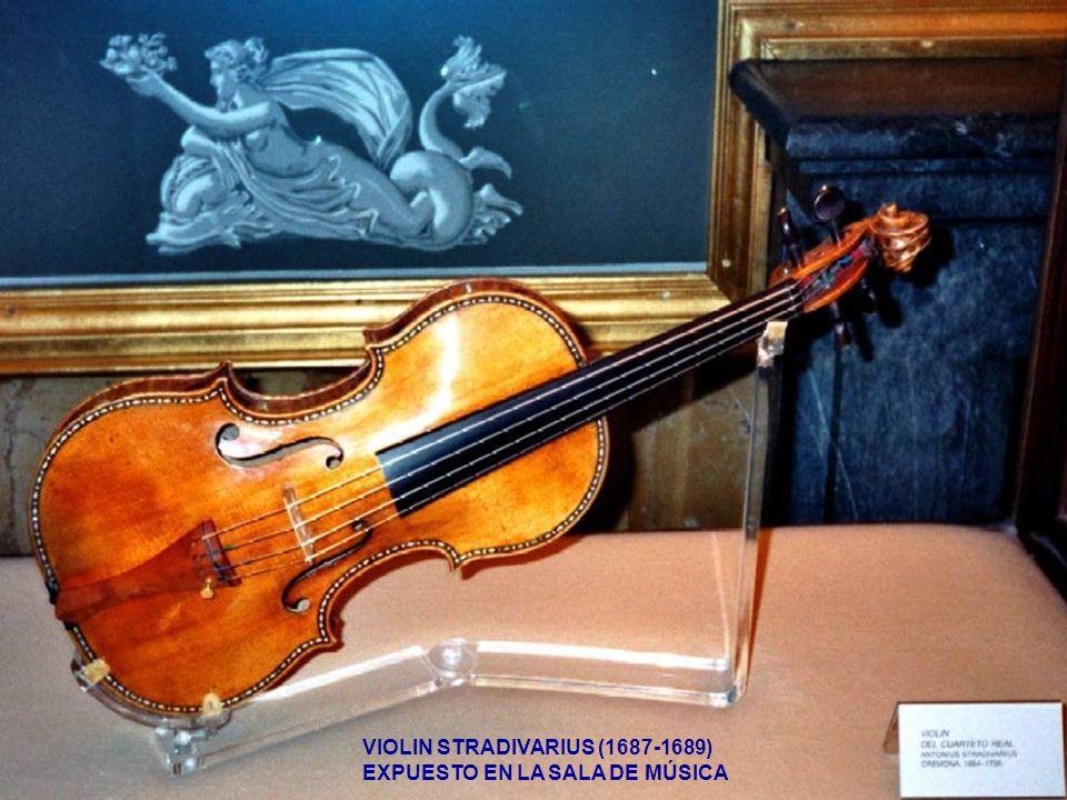 VIOLIN STRADIVARIUS (1687-1689) EXPUESTO EN LA SALA DE MÚSICA