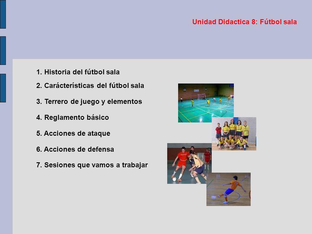 F tbol sala unidad did ctica 8 profesor melchor mart nez for 5 reglas del futbol de salon