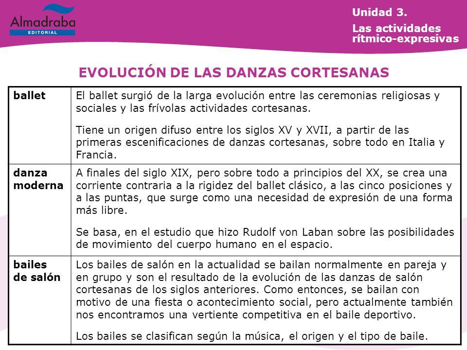 EVOLUCIÓN DE LAS DANZAS CORTESANAS