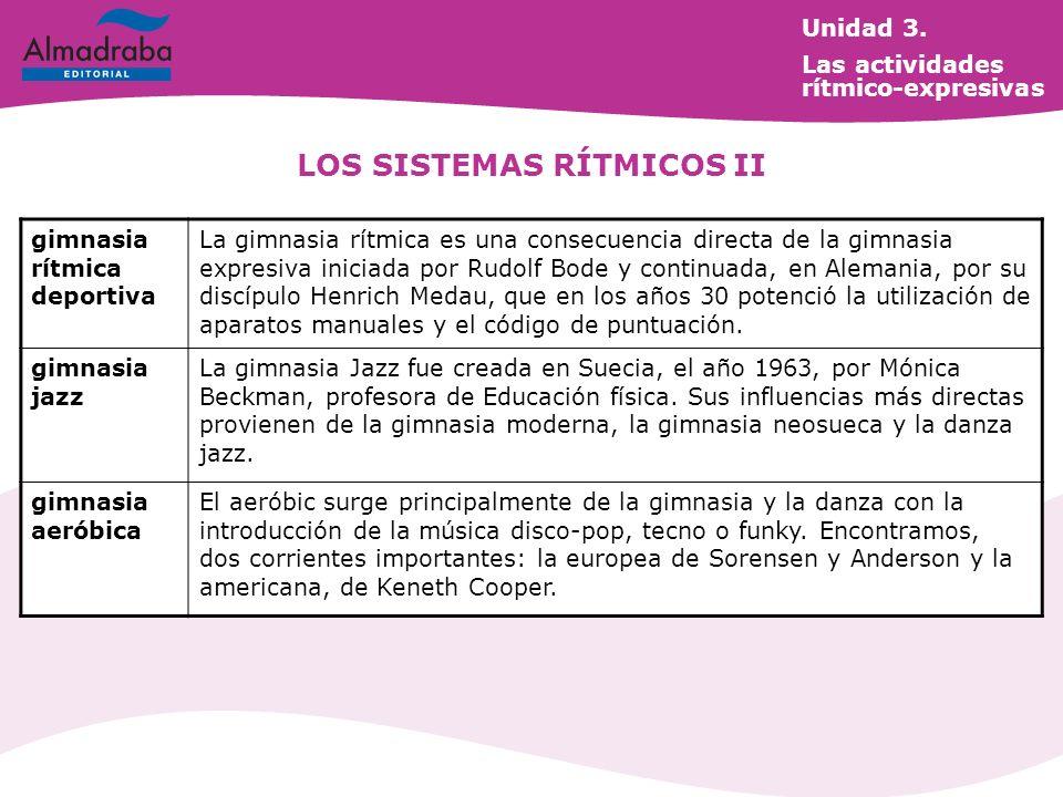 LOS SISTEMAS RÍTMICOS II