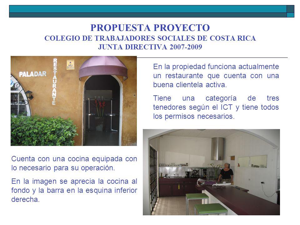 Propuesta proyecto compra propiedad colegio de for Proyecto cocina restaurante