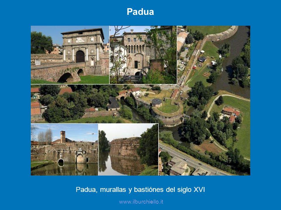 Padua, murallas y bastiónes del siglo XVI
