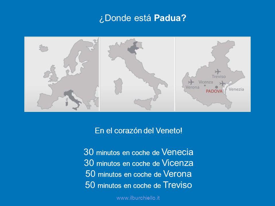 30 minutos en coche de Venecia 30 minutos en coche de Vicenza