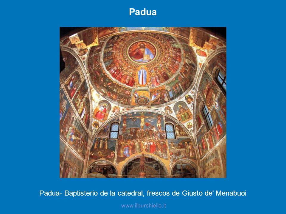 Padua- Baptisterio de la catedral, frescos de Giusto de Menabuoi