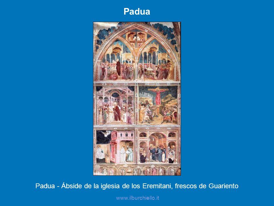 Padua - Ábside de la iglesia de los Eremitani, frescos de Guariento