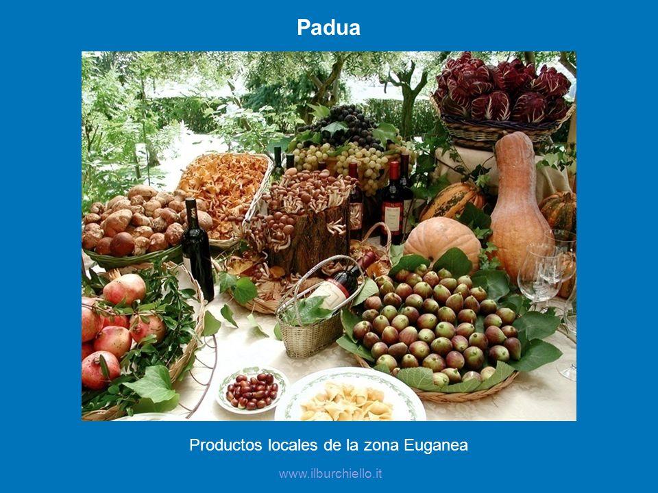 Productos locales de la zona Euganea