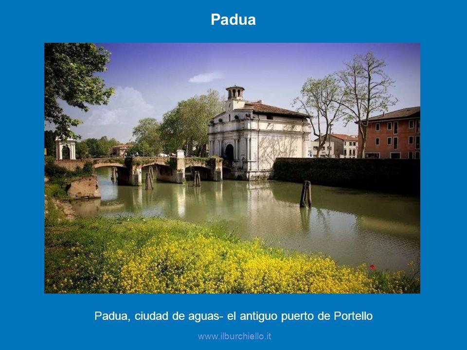 Padua, ciudad de aguas- el antiguo puerto de Portello
