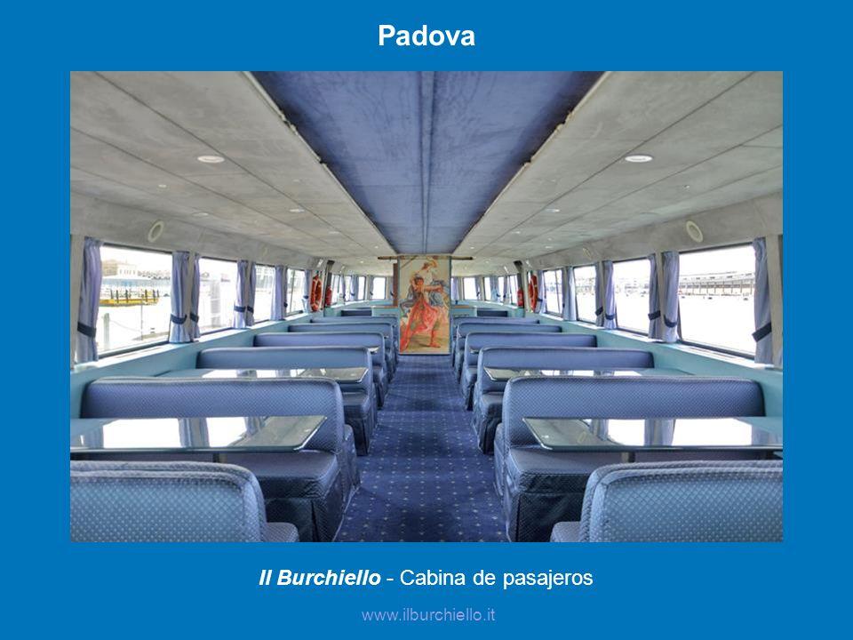 Il Burchiello - Cabina de pasajeros